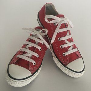 Converse All Star Youth Red Sneakers Size 3